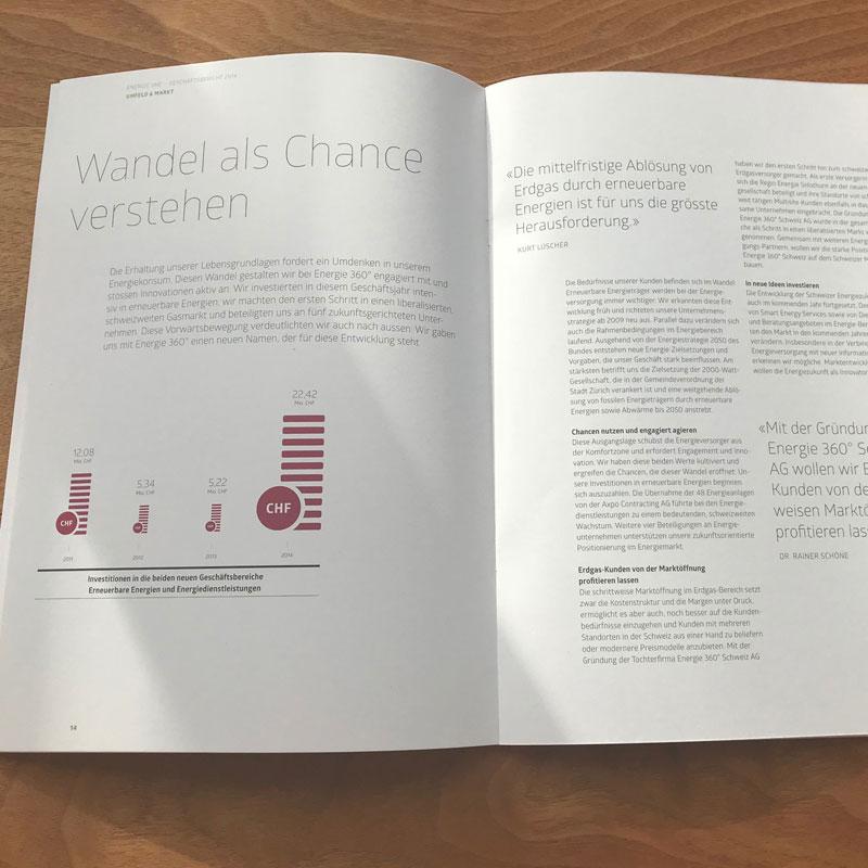 Geschäftsbericht Content Text