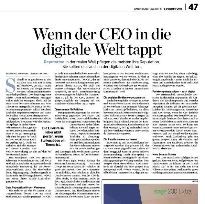 Handelszeitung Artikel Digital-CEO